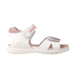 Sandalias de piel 212163 blanco