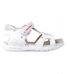 Sandalias de piel 212169 blanco