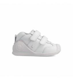 Zapatillas de piel 151157 blanco