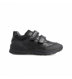 Zapatillas de piel  211103 negro