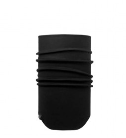 Buff Pescoço à prova de vento mais frio Solid Black / UPF +50 / 25x35.3cm