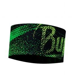 Buff Cinta protección solar Flash Logo running  / verde flúor / 16g /  11x24.5cm / UPF 50+ / transpirable