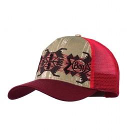 Buff Gorra Trucker Shade / rojo / 83.79g / 19,5x28,5cm / High UV / Transpirable