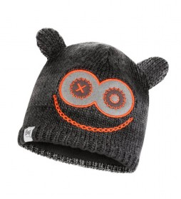 Buff  Junior Monster knitted hat and fleece black / 105g