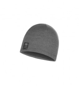 Buff Knitted and fleece hat grey / 52g