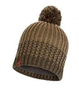Buff Borae kaki knitted and fleece hat / 112g