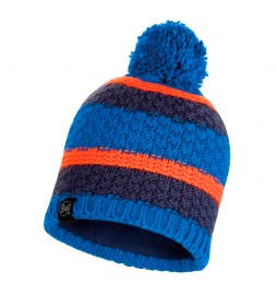 Buff Fizz knitted hat and fleece blue / 82g