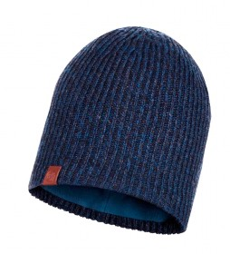 Buff Lyne knitted and fleece cap blue / 53g