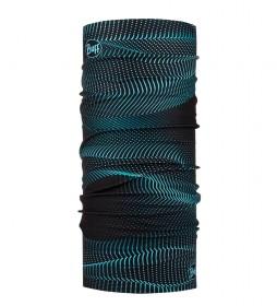 Buff Tubular Original Glow Waves black / 45g / UPF 50+ / UltraStretch