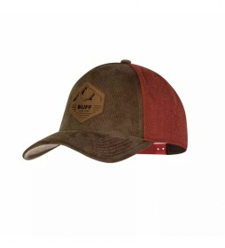 Gorra Snapback marrón, granate