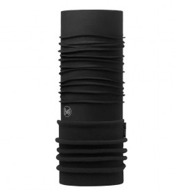 Buff Tubular multifuncional forro polar Solid Black -UPF +50-