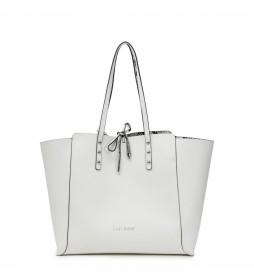 Bolso Shopping Reversible blanco -30x50x14cm-
