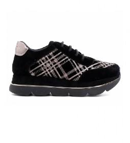 Zapatillas de piel Scamosciata negro