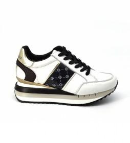 Zapatillas de piel Allacciata blanco -Altura cuña: 5cm-