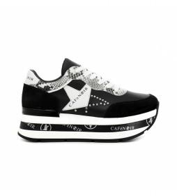 Zapatillas de piel Zeppa negro -Altura plataforma: 6 cm-