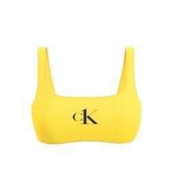 Parte de Arriba de Bikini de Corpiño amarillo