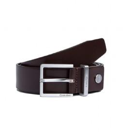 Cinturón de piel K50K504301 marrón