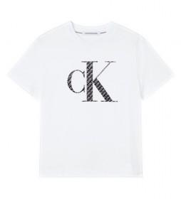 Camiseta Satin Bonded Filled blanco