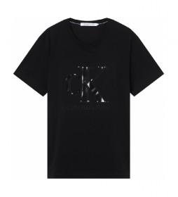 Camiseta CK Monogram Waterbase negro