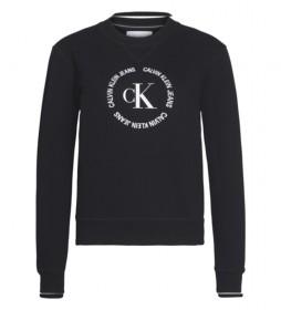 Sudadera Round Logo CK negro