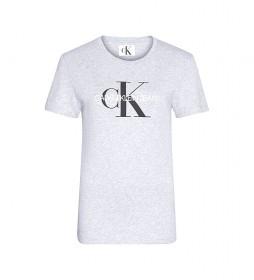 Camiseta Core Monogram Logo Regular Fit gris