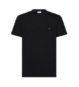 Camiseta Algodón Logo Embroidery negro