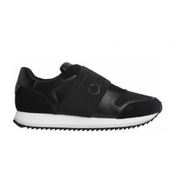 Zapatillas de piel Elastic Runner negro