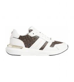 Zapatillas de piel Flexrunner Mixed Mono Mix blanco, marrón