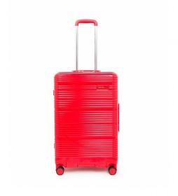 Maleta mediana Globe Trotter rojo -68x43,20x26,7cm-