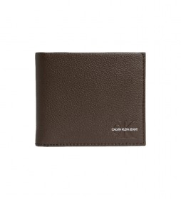 Cartera de piel Billfold negro -9x10,5x2cm-