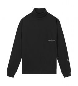 Jersey Long Sleeve Roll Neck negro