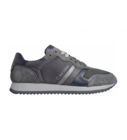Zapatillas de piel Lace Up Mix HM0HM00315 gris, azul