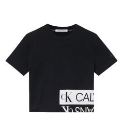 Camiseta Mirrored Logo Boxy negro