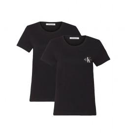 Pack deR 2 Camiseta Monogram Slim negro