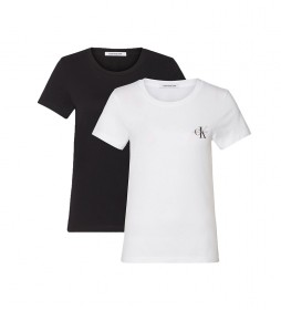 Pack de 2 Camisetas Monogram Slim blanco