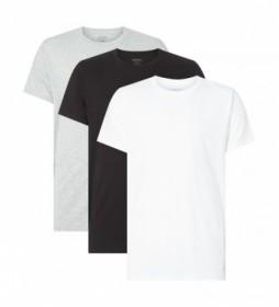Pack de 3 camisetas Cotton Classics blanco, negro, gris