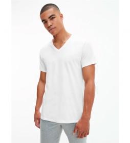 Pack de 3 Camisetas Cuello V blanco