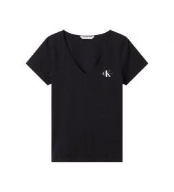 Camiseta Slim Organic Cotton V-Neck negro