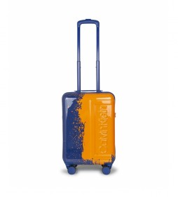 Maleta de cabina The Factory azul, naranja -54x35,5x22,5cm-