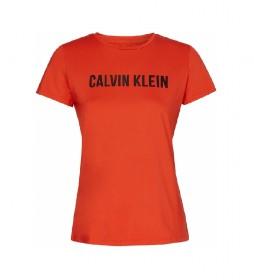 Camiseta Deportiva con Logo Stretch naranja