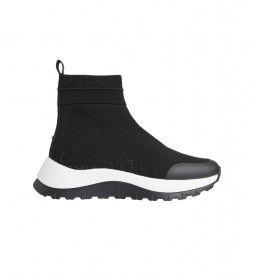 Zapatillas altas Knit 2D negro -Altura plataforma: 5,6cm-