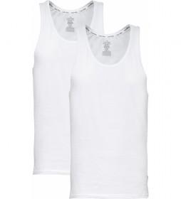 Pack de 2 camisetas tirantes Modern Cotton blanco