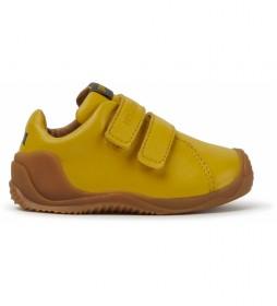 Zapatillas de piel Dadda FW mostaza