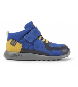 Botines de piel Driftie Kids azul, amarillo