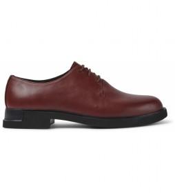 Zapatos de piel Iman burdeos