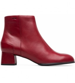 Botines de piel Katie rojo -Altura tacón: 5,1cm-