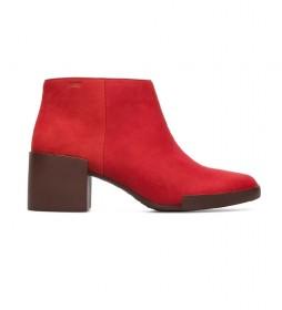 Botines de piel Lotta rojo -Altura tacón: 6cm-