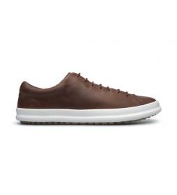 Zapatos de piel Chasis K100373 marrón