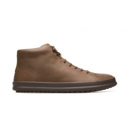 Zapatillas de piel Chasis marrón