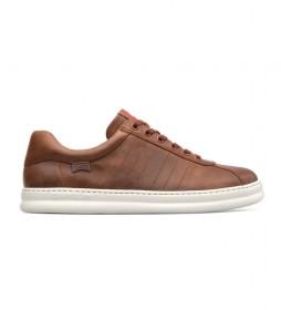 Zapatillas de piel Runner marrón